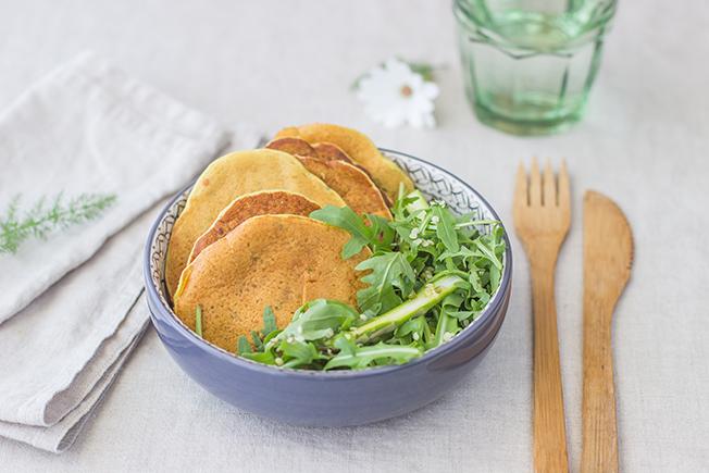 Pancakes di ceci e asparagi