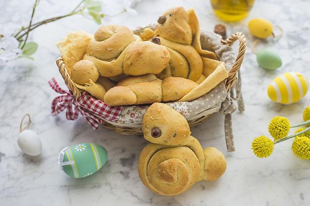 Coniglietti di pan brioche salati