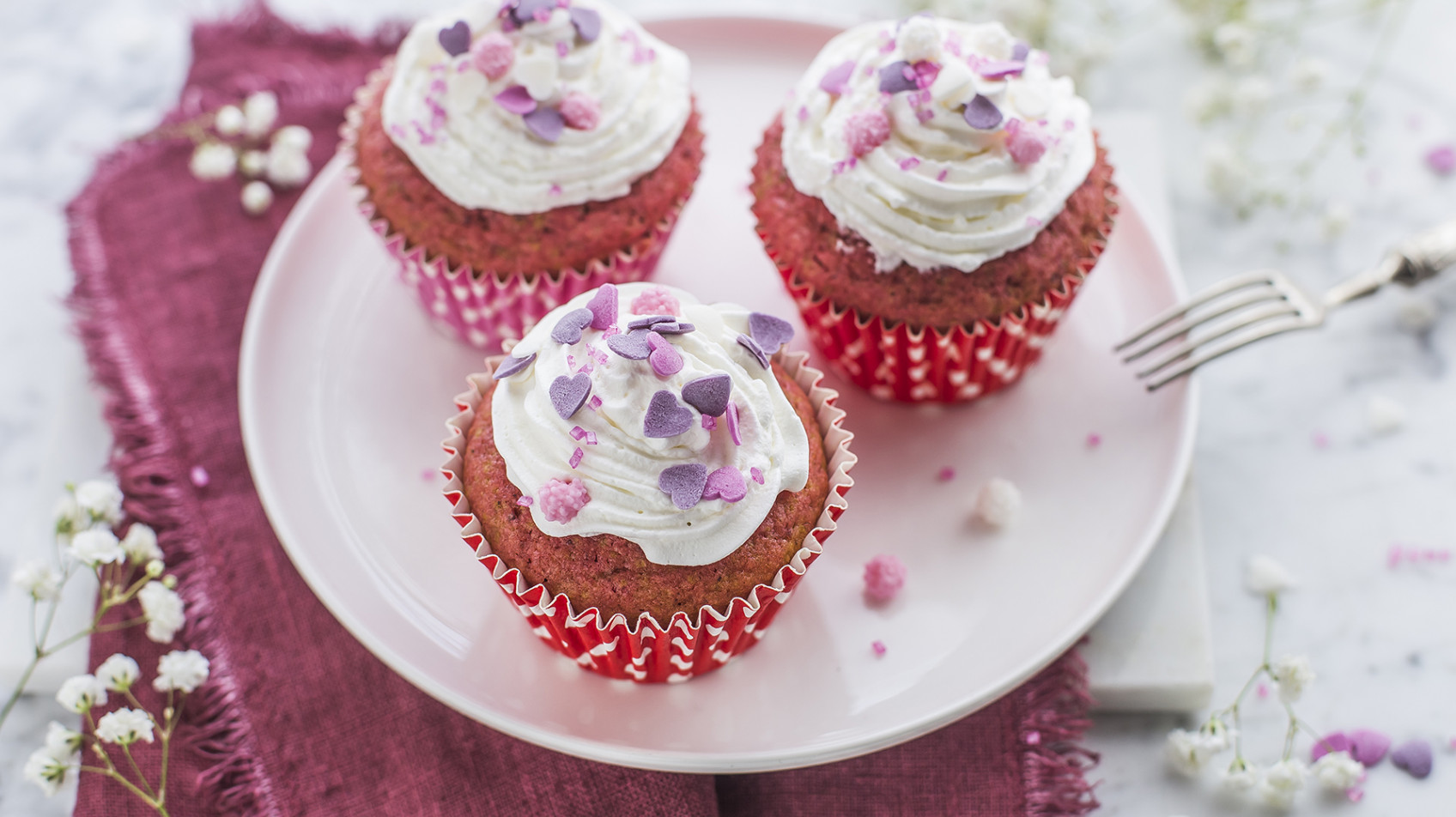 Cupcake red velvet alla barbabietola