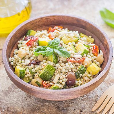 Insalata di grano saraceno e zucchine