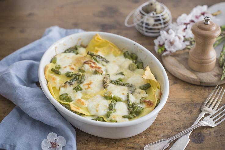 Lasagne senza glutine agli asparagi