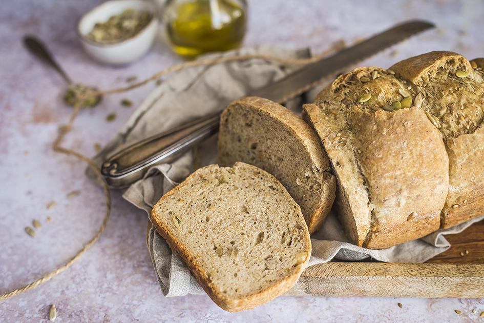 Pane morbido con semi misti senza glutine