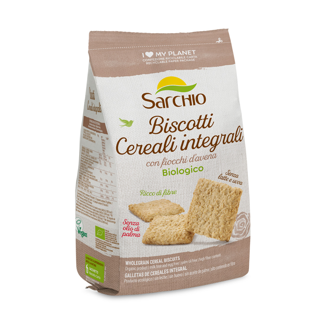 Cereal biscuits <br> with wholegrain flour