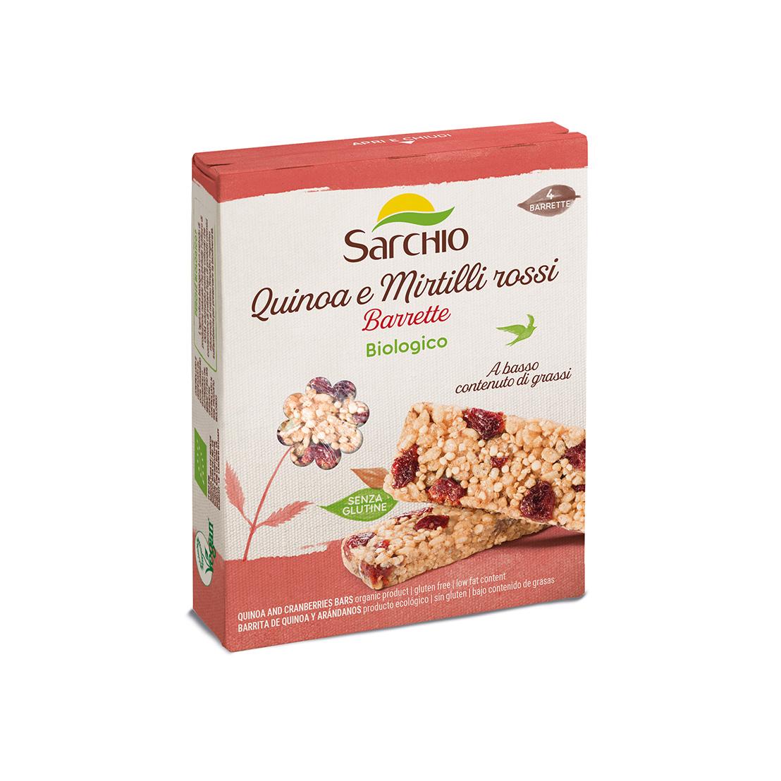 Barrita de quinoa y arándanos rojos