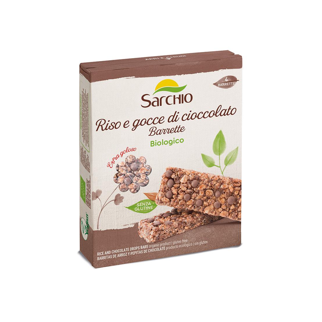 Barrette riso e gocce di cioccolato